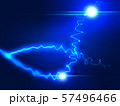 放電 稲妻 閃光 ウェーブ エコ 波形 曲線模様 抽象模様 アブストラクト  57496466