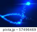 放電 稲妻 ウェーブ エコ 波形 曲線模様 抽象模様 アブストラクト  57496469