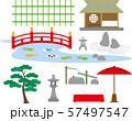 日本庭園の設備素材 57497547