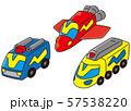 戦隊ヒーロー風の乗り物おもちゃ 57538220