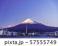 (静岡県)田子の浦港から眺める、富士山 57555749