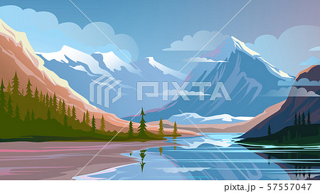 Beautiful nature, natural landscape. Evening mountain scenery 57557047