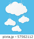 Paper art with cloud on blue sky background. 57562112