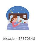 寝かしつけをするお母さん イラスト 57570348