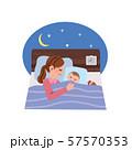 寝かしつけをするお母さん イラスト 57570353