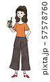 タピオカを飲む女性 57578760