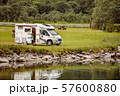 Family vacation travel RV, holiday trip in 57600880