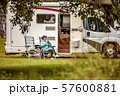 Family vacation travel RV, holiday trip in 57600881