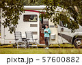 Family vacation travel RV, holiday trip in 57600882