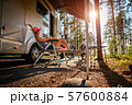 Family vacation travel RV, holiday trip in 57600884