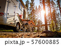 Family vacation travel RV, holiday trip in 57600885