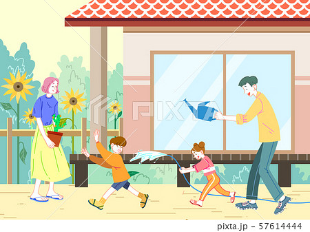 Concept of a happy and loving family vector illustration 010 57614444