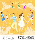 Concept of summer outdoor activities, summer festivals vector illustration 003 57614503