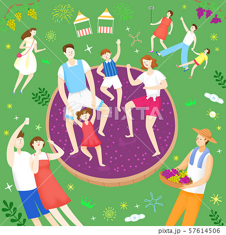 Concept of summer outdoor activities, summer festivals vector illustration 009 57614506