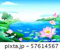 Beautiful nature landscape in summer season vector illustration 011 57614567
