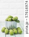 Close up of green plum, summer fruit 007 57616974