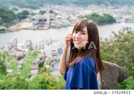 若い女性 観光 尾道 女子旅 57629633