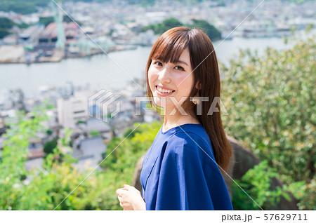 若い女性 観光 尾道 女子旅 57629711