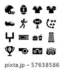 american football solid icons 57638586