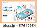 Meeting Website Isometric Landing Page 57640954