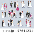 Wedding Isometric Icons  57641231