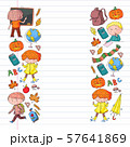 Back to school vector pattern. Education icons for children. 57641869