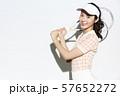テニスウェアの女性 57652272