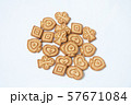 butter cookies different form on white background 57671084