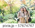 旅行 秋 紅葉 母娘 親子 家族旅行イメージ 57674767