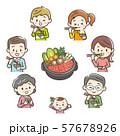 すき焼きを食べる家族 57678926