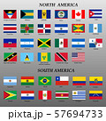 set of flags of Americas 57694733