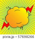 Vector comic speech bubble 57698266