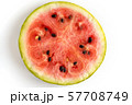 Water Melon Slice. Circle Watermelon Cut Section 57708749