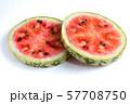 Watermelon Slice. Round Circle Cut Section View 57708750