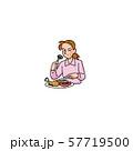 お肉大好きな女性 57719500