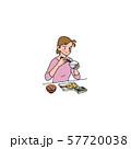 和食が大好きな女性 57720038