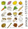 秋季の野菜 57722439