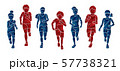 Group of Children running together cartoon graphic vector 57738321