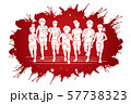 Group of Children running together cartoon graphic vector 57738323
