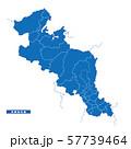 京都府地図 シンプル青 市区町村 57739464