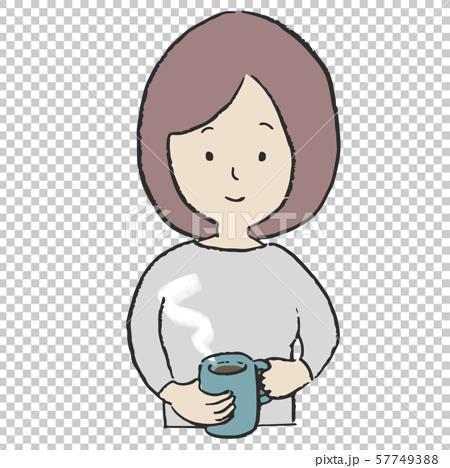 컨디션 관리 따뜻한 음료를 마시는 여성 57749388