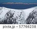 八ヶ岳連峰・硫黄岳稜線越しに見る槍・穂高連峰 57766238