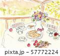 秋のテーブル アップルパイ 57772224