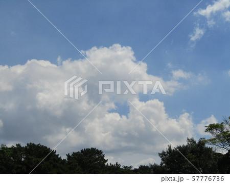 九月の青空と白い雲 57776736