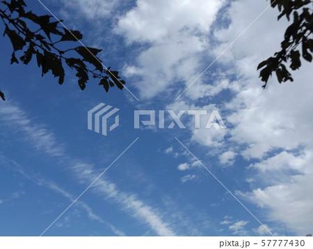 九月の青空と白い雲 57777430