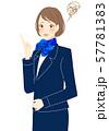 ミス 失敗 トラブル対応 制服姿の女性 スタッフ 57781383