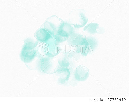 Abstract background with wet cyan splashes.Watercolor style with gentle blots and stains. 57785959