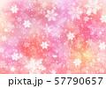 ピンク色雪柄 57790657