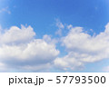 青空と雲の背景素材 暑中見舞い テンプレート 57793500