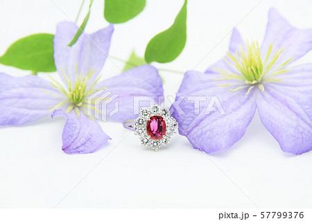 指輪 ダイヤモンド ルビー 57799376